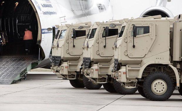 Armored Trucks ready for Antonov Transport