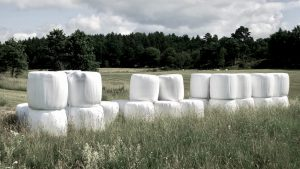 Plastic Conserved Hay Bale