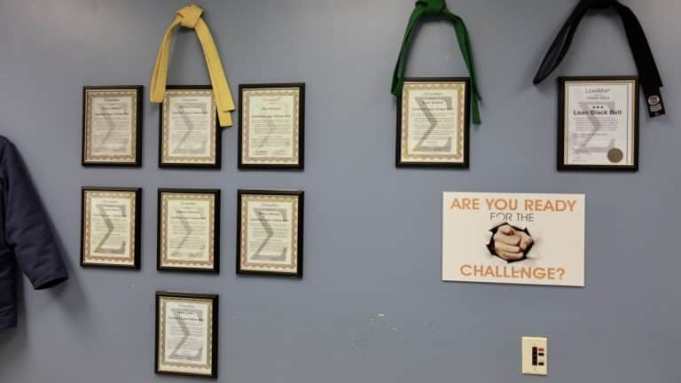 Lean Certification Wall of Fame