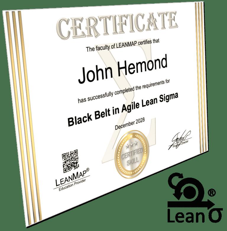 Agile Lean Six Sigma Black Belt Certificate