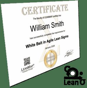 Agile Lean Six Sigma White Belt Certificate