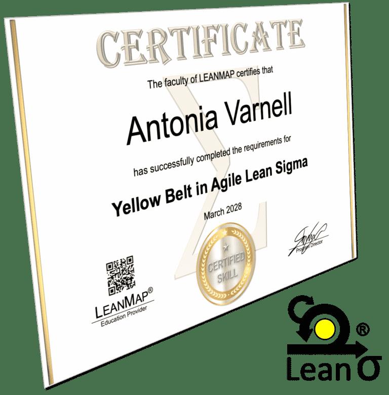 Agile Lean Six Sigma Yellow Belt Certificate