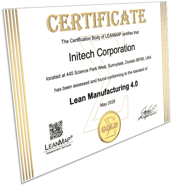 Lean Manufacturing Certification Gold Award