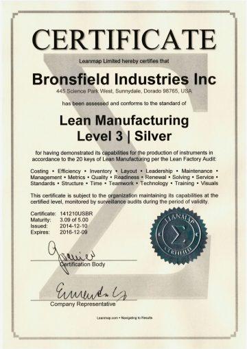 Lean Manufacturing Certificate