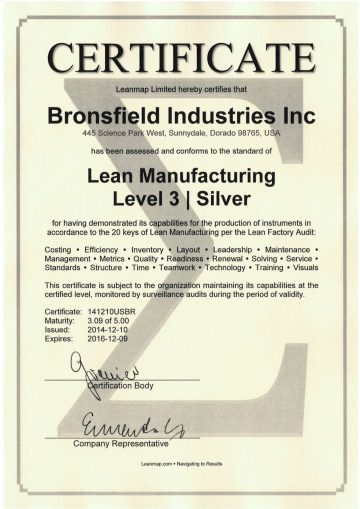 Lean Corporation Certificate